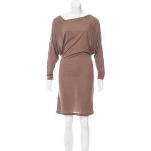 All Saints Timi Dolman Midi Dress in Brown Size 2